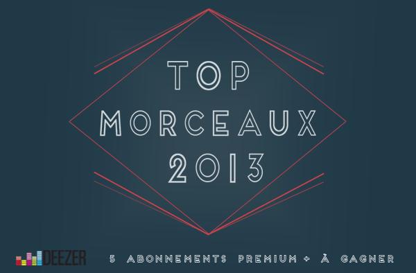 Top 2013, Morceaux